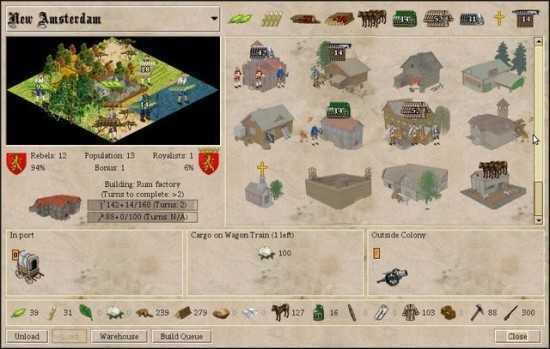 تحميل لعبة بناء المدينة FreeCol