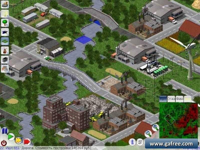 لعبة بناء المدينة الاستراتيجية LinCity-NG