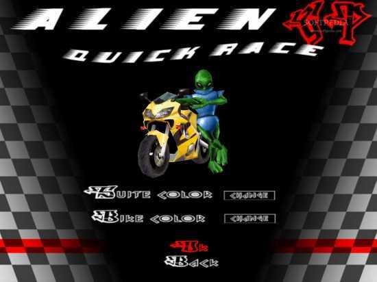 لعبة سباق الدراجات النارية Alien GP