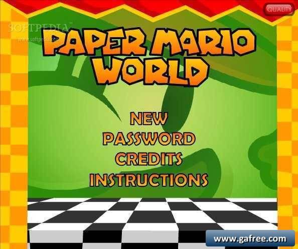 تحميل لعبة ماريو حول العالم Paper Mario World