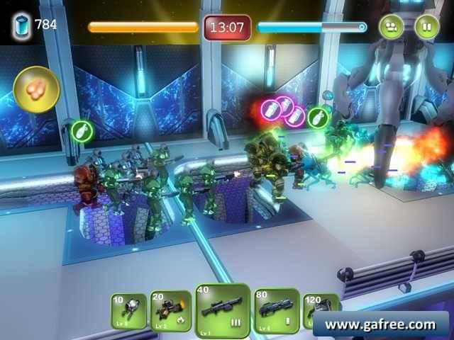 لعبة حرب انقاذ الناس Alien Hallway