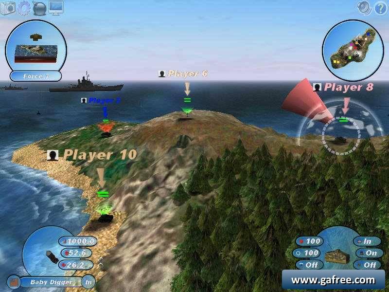 لعبة الحرب بالاسلحة Scorched 3D