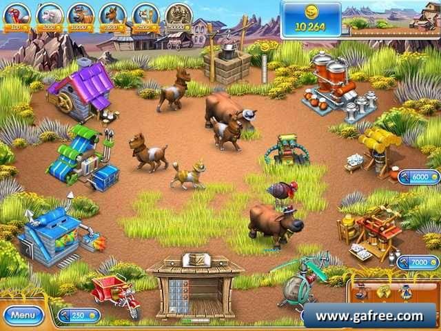 لعبة مزرعة الريف الامريكي Farm Frenzy 3: American Pie